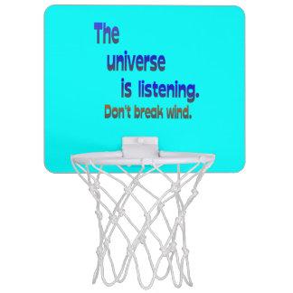 Don t Break Wind - Universe is Listening Mini Basketball Backboards