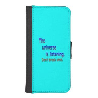 Don t Break Wind - Universe is Listening iPhone 5 Wallet Case
