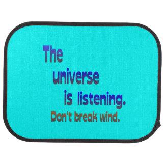 Don t Break Wind - Universe is Listening Floor Mat