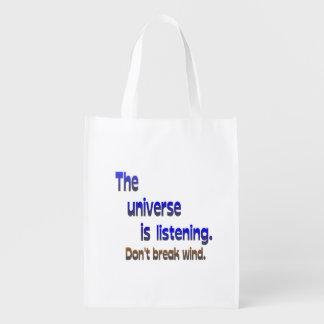 Don t Break Wind - Universe is Listening Grocery Bag