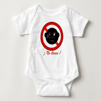 Don´t cry, sees happy. Spanish text Baby Bodysuit