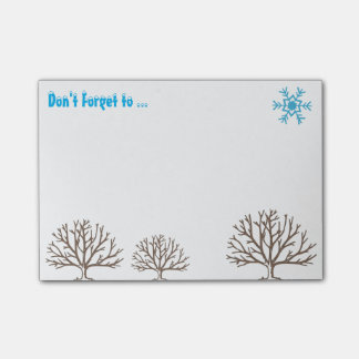 Don' T Forget to… - Winter/Winter Post-it Notes