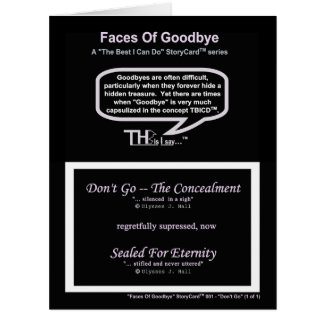 Don't Go—The Concealment(1of1) Card