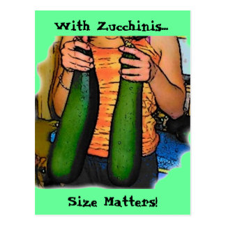 "Don't Hate My ""Double Z"" Zucchinis! Postcard"
