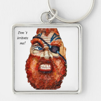 Don´t irritate me! Scandinavian viking Silver-Colored Square Keychain