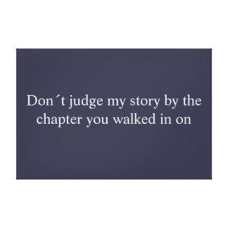 Don´t judge canvas picture
