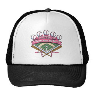Don t Let Breast Cancer Steal 2nd Base Mesh Hats