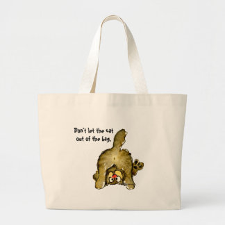 Don t let the cat out of the bag Tote