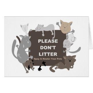 Don t Litter Spay Neuter Card