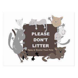 Don t Litter Spay Neuter Post Card