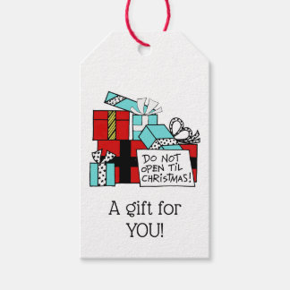 Don't Open Til Christmas Presents Xmas Gift Tags