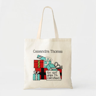 Don't Open Til Christmas Presents Xmas Tote Bag