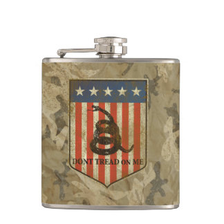 Don't Tread on Me Hip Flask