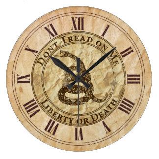 Don't Tread on Me Large Clock