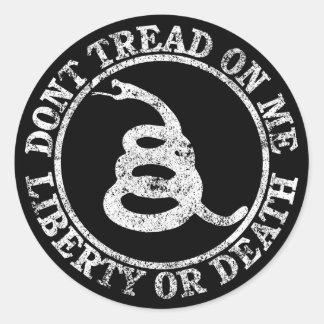 Don't Tread on Me Round Sticker