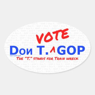 Don T. Vote GOP - Sticker with BG