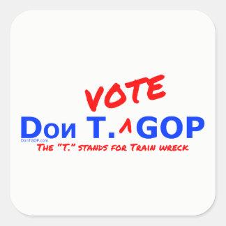 Don T. Vote GOP /Train wreck Sticker