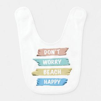 Don't Worry BEACH Happy - Fun Beach Print Bib