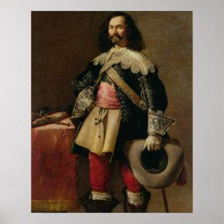 Don Tiburcio de Redin y Cruzat (oil on canvas) Poster
