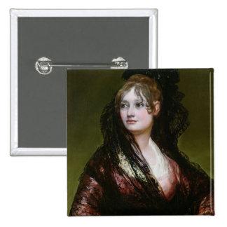 Dona Isabel de Porcel, exh. 1805 2 Inch Square Button