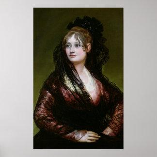 Dona Isabel de Porcel, exh. 1805 Poster