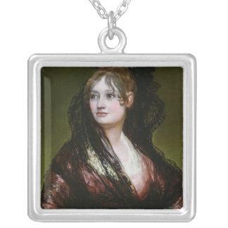 Dona Isabel de Porcel, exh. 1805 Silver Plated Necklace