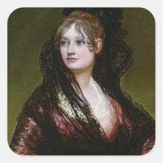 Dona Isabel de Porcel, exh. 1805 Square Sticker