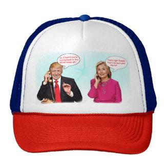 Donald and Hillary phone conversation hat. Trucker Hat