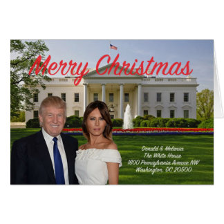 Donald and Melania Christmas Card
