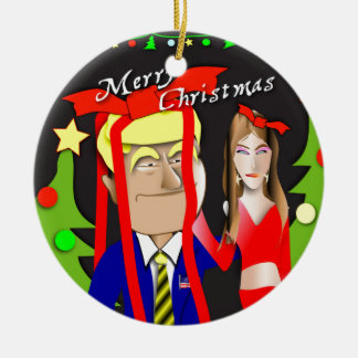 Donald and Melania Gift Ceramic Ornament