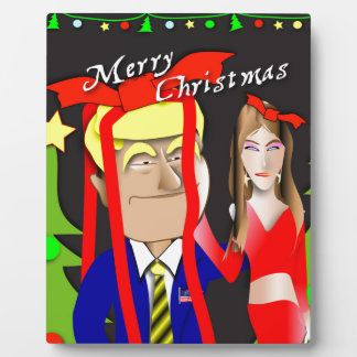 Donald and Melania Gift Plaque