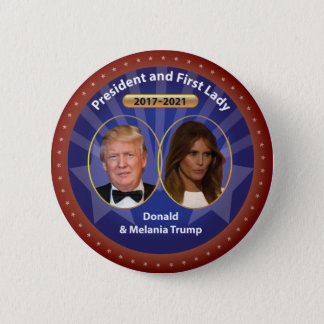 Donald and Melania Trump 2 Inch Round Button