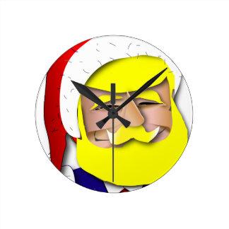 Donald Claus Round Clock