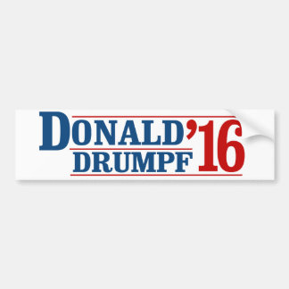 Donald Drumpf '16 Bumper Sticker