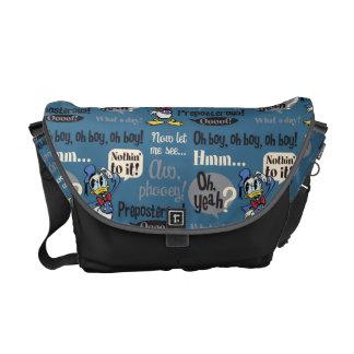 Donald Duck Blue Pattern Messenger Bag