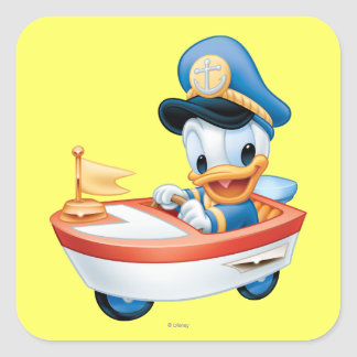 Donald Duck | Boat Baby Square Sticker