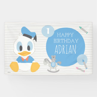 Donald Duck | First Birthday Banner