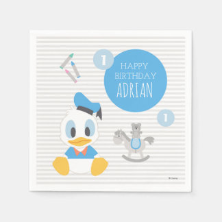 Donald Duck | First Birthday Disposable Napkin