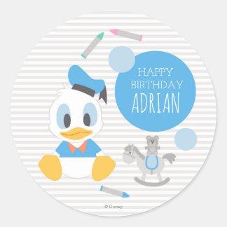Donald Duck | First Birthday Round Sticker