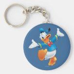 Donald Duck Jumping Basic Round Button Keychain