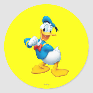 Donald Duck | Posing Classic Round Sticker