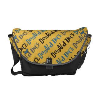 Donald Duck Yellow Pattern Messenger Bag