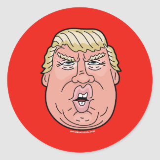 Donald J. Trump Cartoon Face Sticker