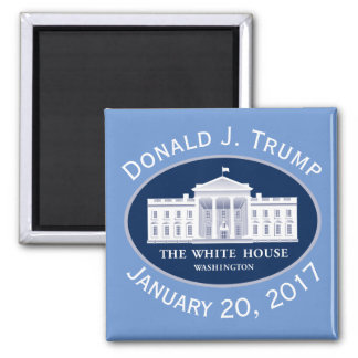 Donald J. Trump Inauguration Day & White House Square Magnet