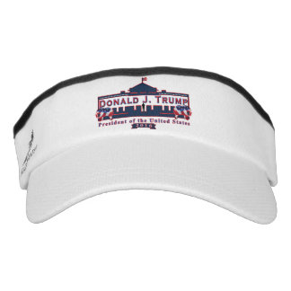 Donald J. Trump - President Red White Blue Visor