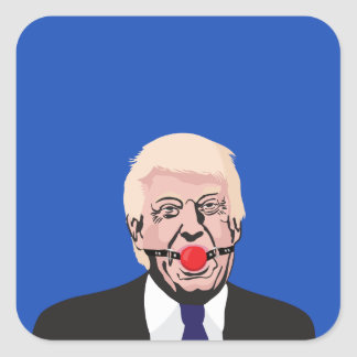 Donald J. Trump with gag - add your own text Square Sticker