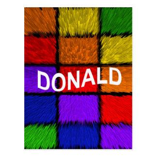 DONALD POSTCARD