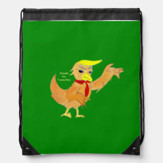 Donald the Trumpbird Drawstring Bag