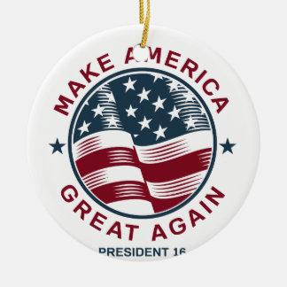 Donald Trump 16 Round Ceramic Ornament