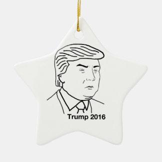 Donald Trump 2016 Ceramic Star Ornament